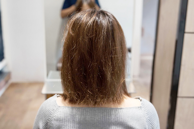 枝毛、切れ毛、アホ毛|BEFORE 施術前