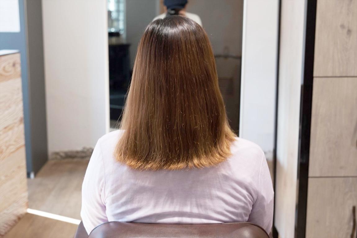 2ヶ月後、2回目のBefore|髪質改善カット&トリートメントの施術事例