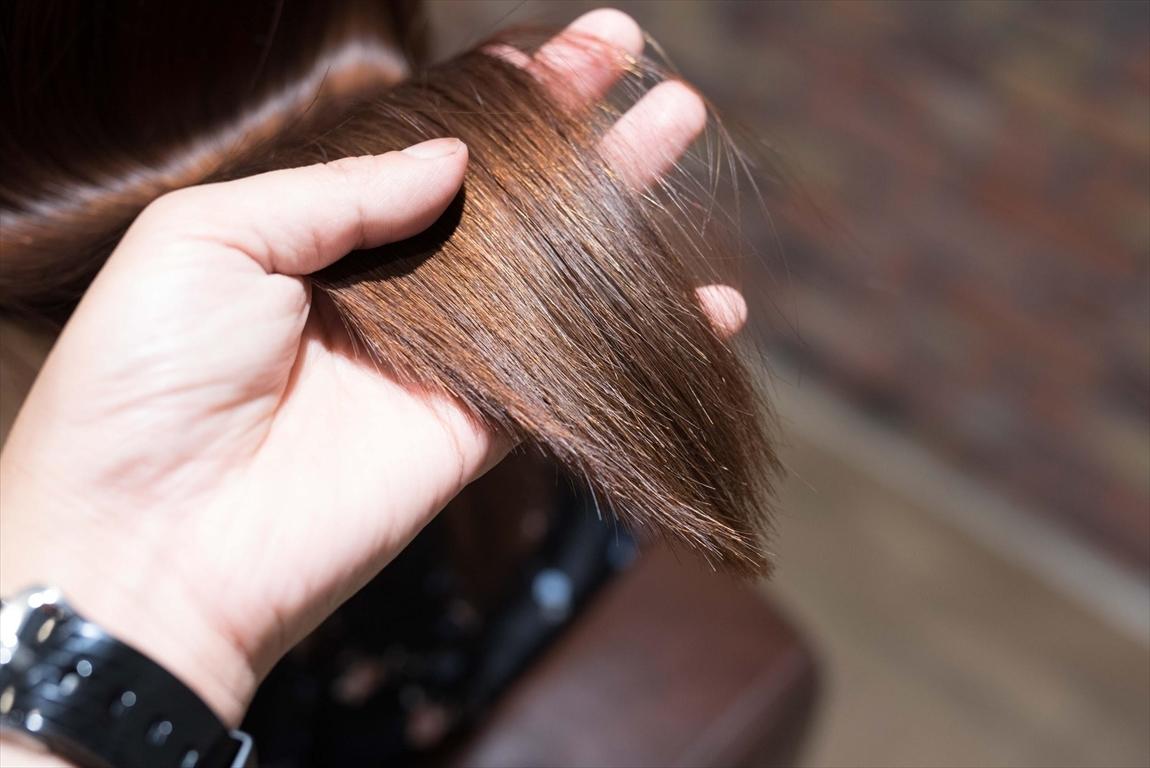髪質が改善されると髪に潤いがでる