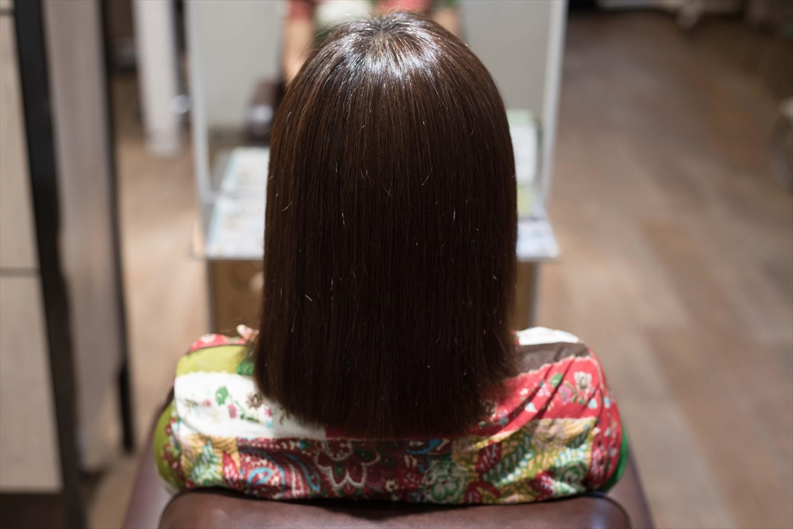 AFTER|施術前 クセ毛の方に髪質改善カット&トリートメントがおすすめ