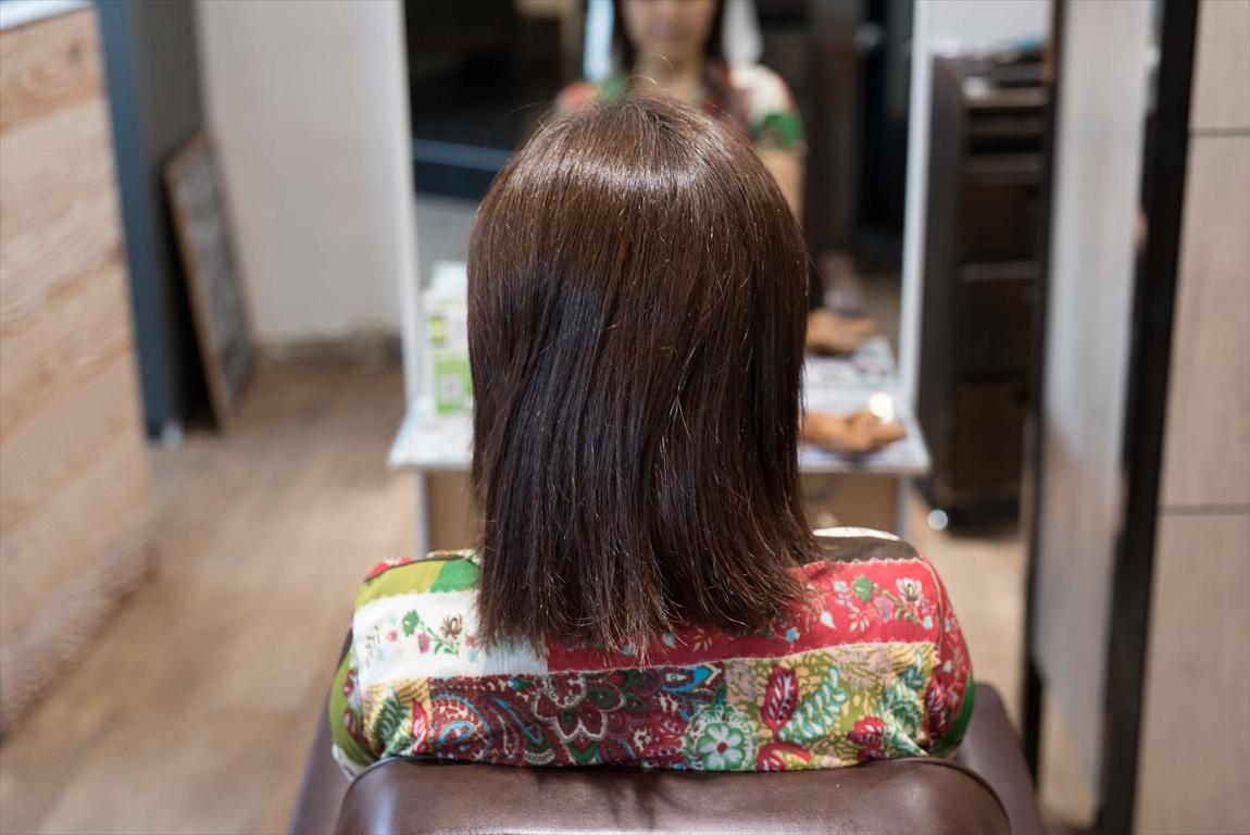 BEFORE|施術前 クセ毛の方に髪質改善カット&トリートメントがおすすめ