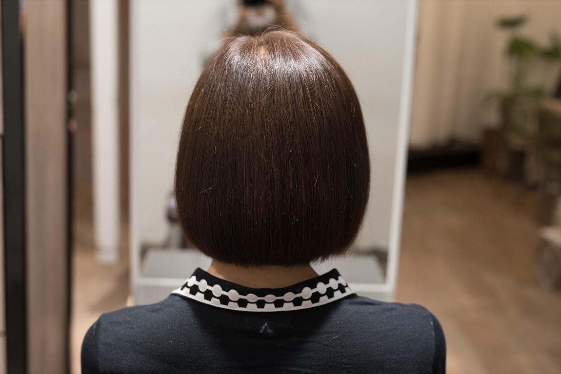 AFTER|施術前 枝毛、アホ毛が気になる方に髪質改善カット&トリートメントがおすすめ