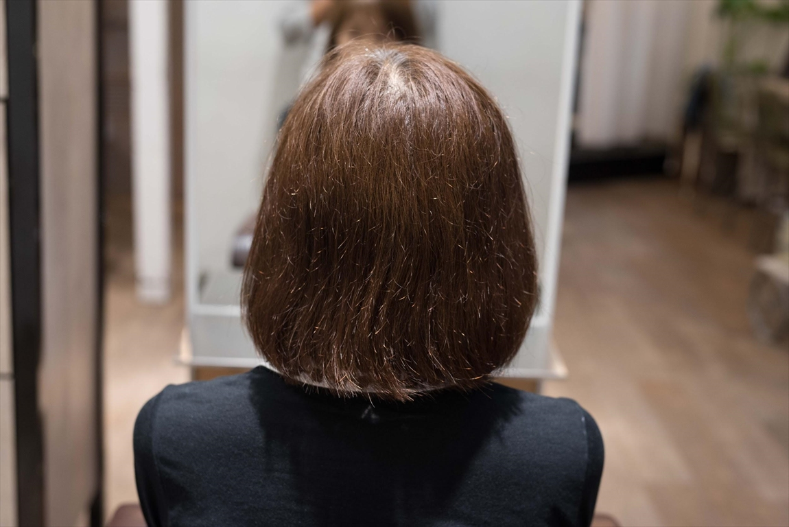 BEFORE|施術前 枝毛、アホ毛が気になる方に髪質改善カット&トリートメントがおすすめ