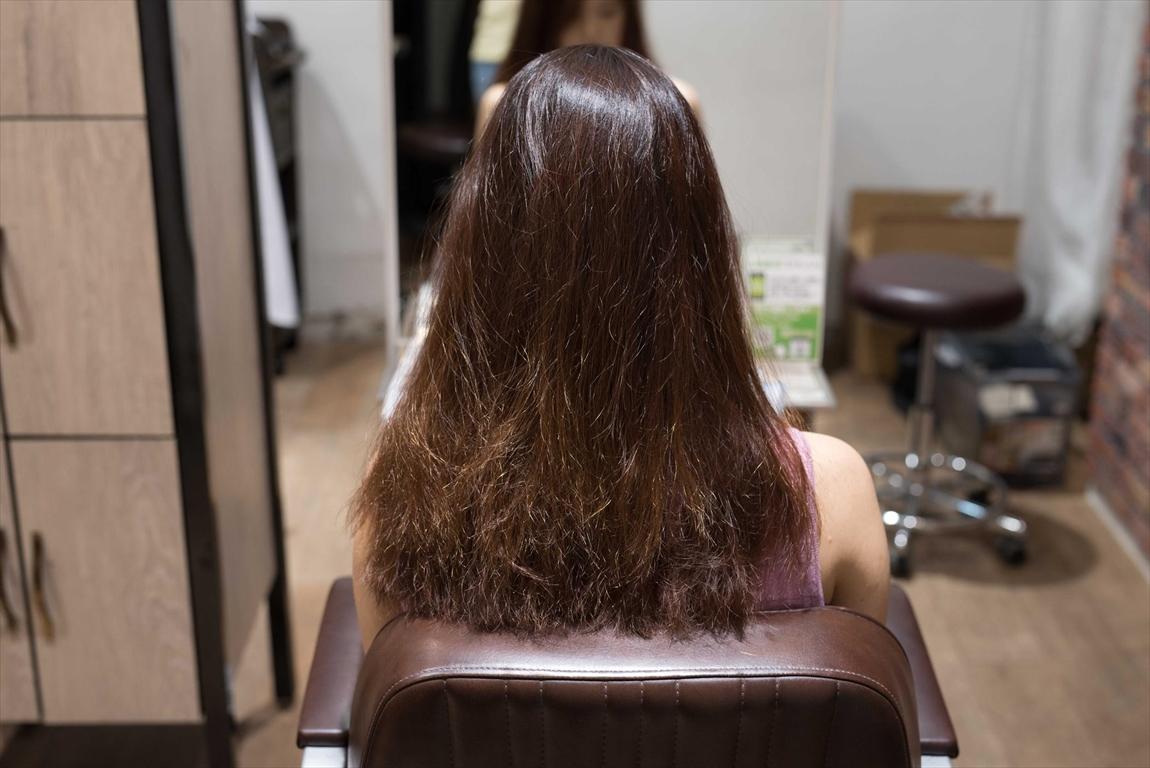 BEFORE|施術前 髪が広がる方に髪質改善カット&トリートメントがおすすめ