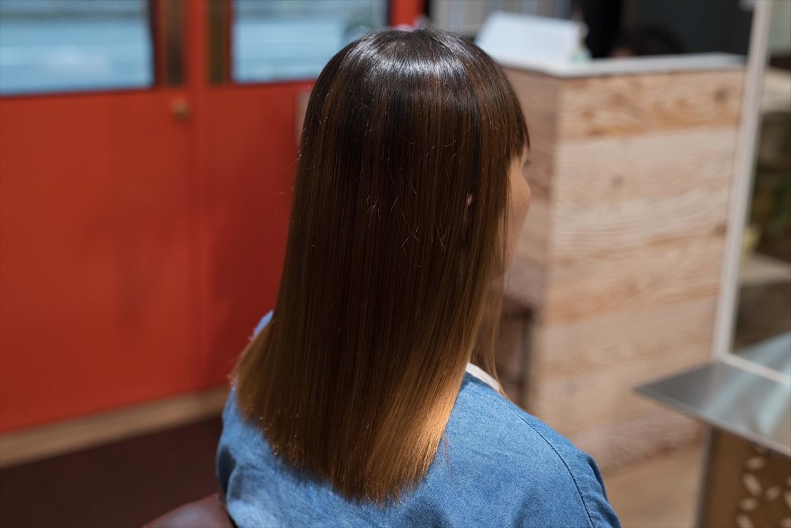 AFTER|施術前 油っぽい毛髪に髪質改善カット&トリートメントがおすすめ