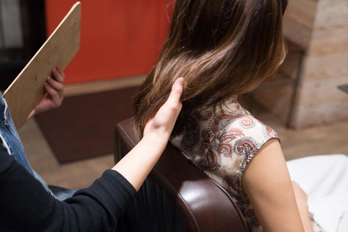 髪質改善カラーの施術事例