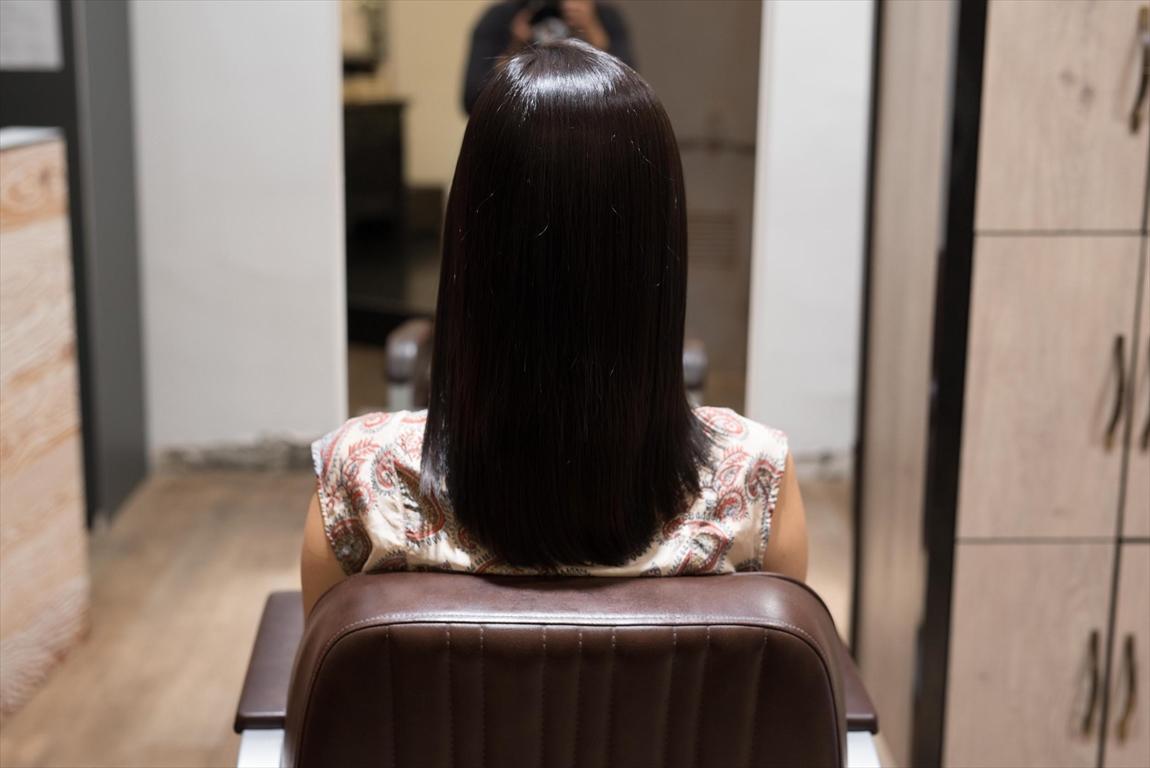 AFTER 施術後|髪がはねる方には髪質改善矯正がおすすめ