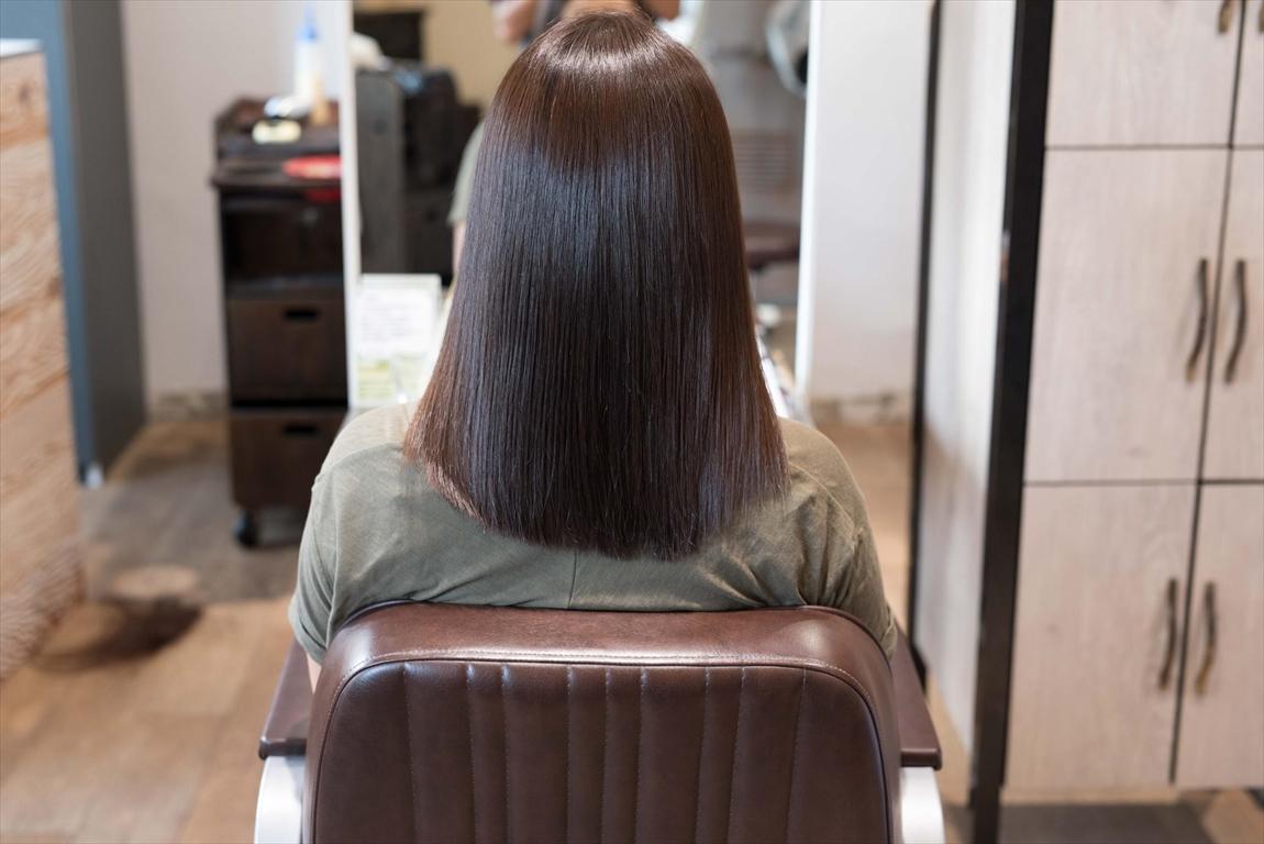 AFTER 施術後|髪がうねる方には髪質改善矯正がおすすめ