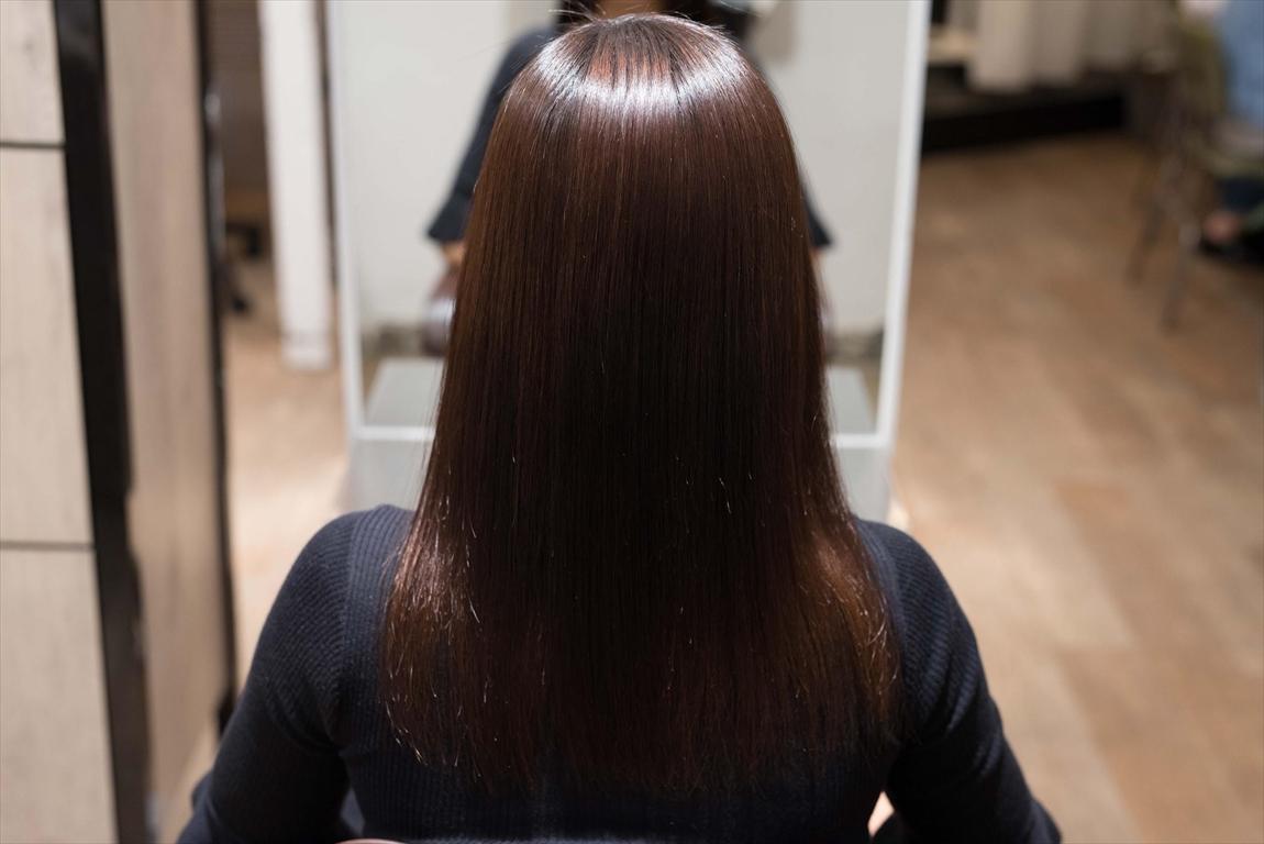 AFTER 施術後|髪がチリつく方には髪質改善矯正がおすすめ