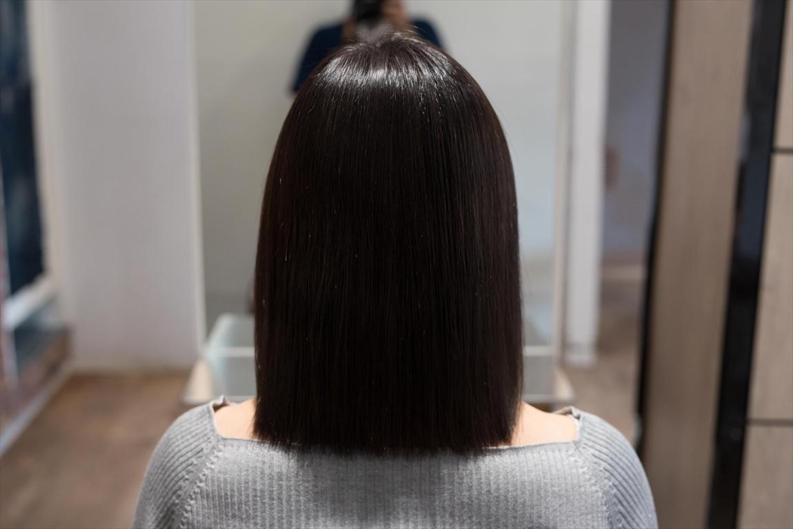 AFTER 施術後|枝毛、アホ毛には髪質改善矯正がおすすめ