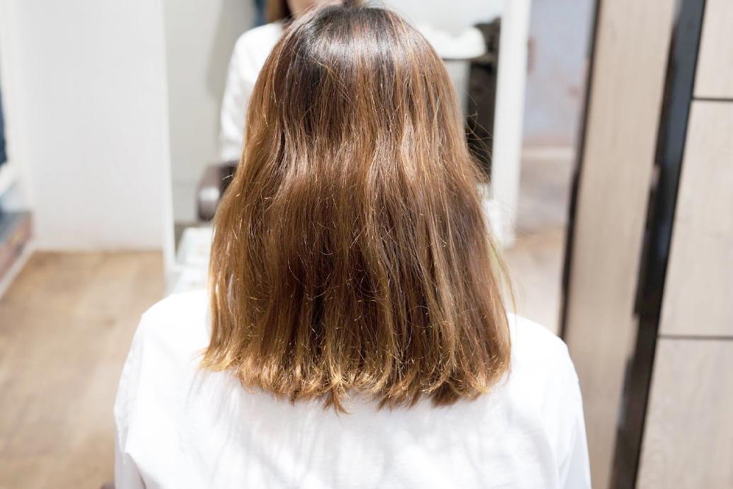 初施術写真befro(髪質改善カット&トリートメントの場合)