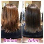 髪質改善カラーで綺麗なアッシュに染めていく!Before & After