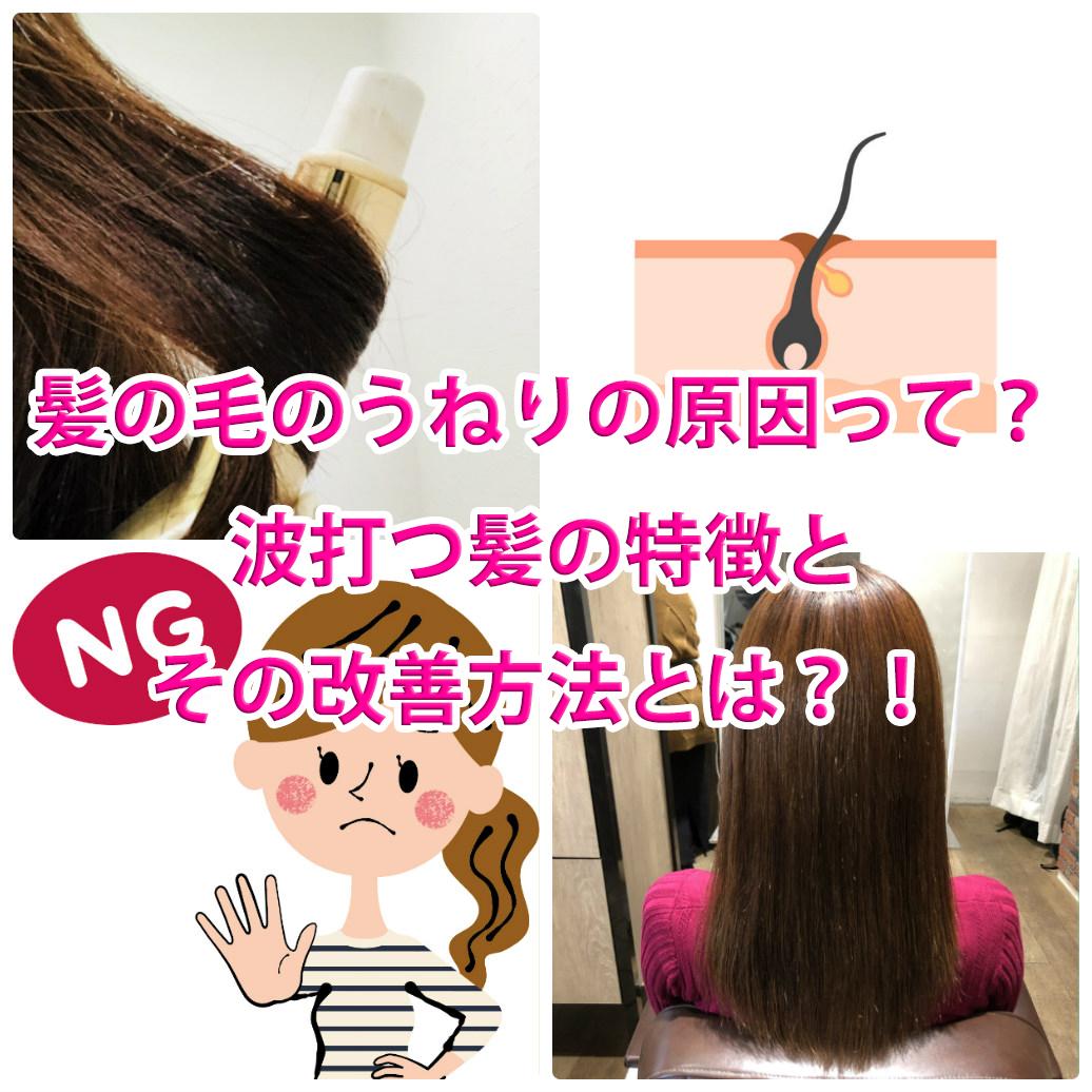 髪の毛 うねり 改善