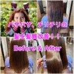 パサパサ、チリチリの髪を髪質改善!!Before & After